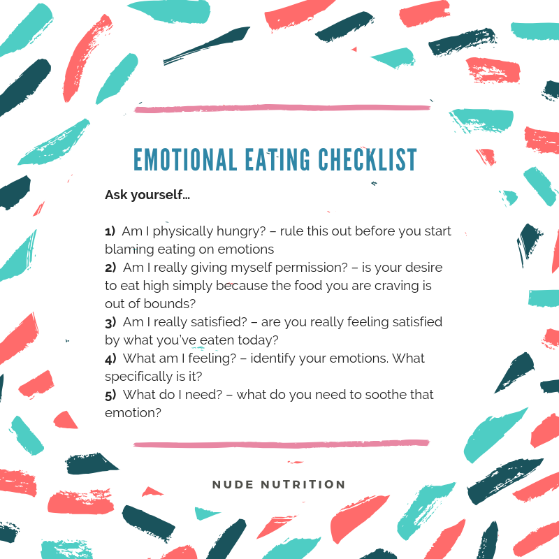 When food love 7 ways combat emotional eating