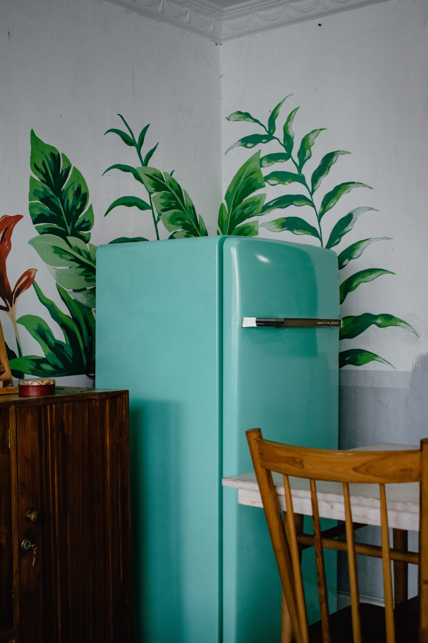 Turquoise Fridge in Kitchen - Overeating when working from home